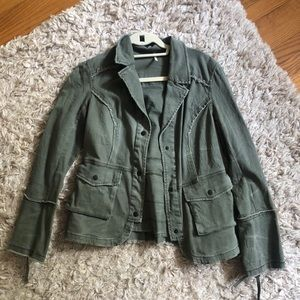 Free People Blazer Inspired Green Jacket